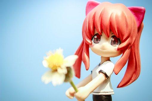 Anime, Toys, Form, Model, Mini, Nature, Girl, Red Hair