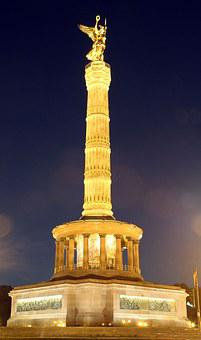 Siegessäule, Berlin, Gold Else, 1864, Gold, Monument