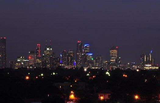 Melbourne Skyline, Melbourne North, Night, Cityscape