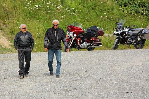 Baby Boomer Motorcycle, Harley Davidson, Riders, Old