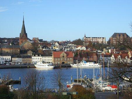 Flensburg, Port, West Side, Old Town, Duburg, Duborg