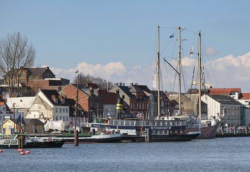 Ships, Oldtimer, Oldtimer Harbor, Flensburg