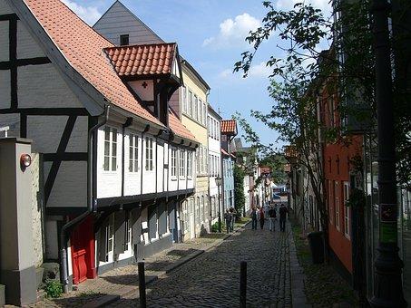 Flensburg, Oluf-samson-gang, Downtown