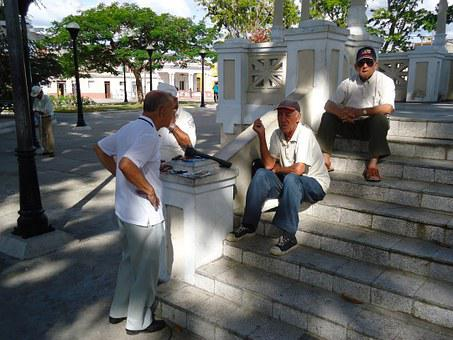 Pensioners, Pension, Old, Venerable, Men, Retirement