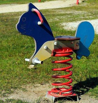 Beach, Toy Small Children, Swing, Power Consuming, Fun