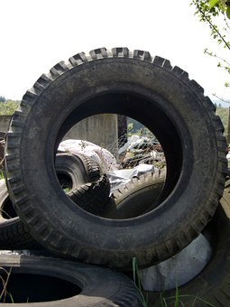 Mature, Scrap, Garbage, Old, Used, Profile, Rubber