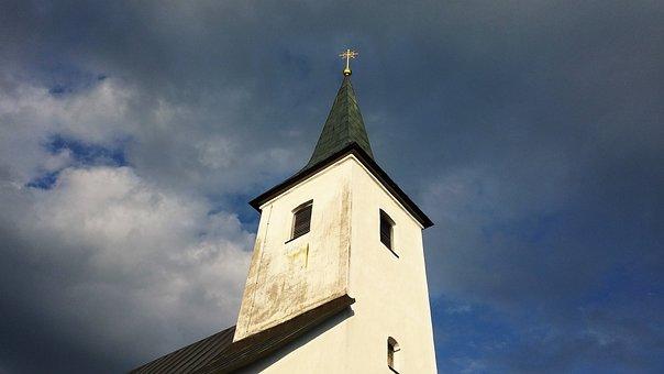 Church, Lackenhof, Steeple, Religion, Christianity