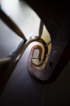 Staircase, Spiral Staircase, Hallway, Eye, Spiral, Rise