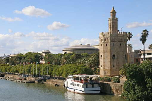 Gold Tower, Seville, River, Andalusia, Monuments, Tower