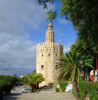 Gold Tower, Seville, Monuments, Spain, Andalusia
