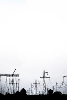 Strom, Kabel, Schwarz-weiß Foto, Ukraine