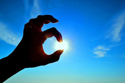 Sun, Hands, Sun In Your Hands, Sky, Sardinia