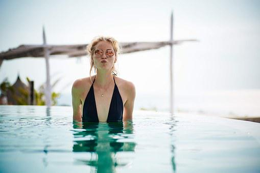 Girl, Swimming, Pool, Bikini, Bathing Suit, Sunglasses