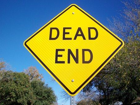 Dead End, Street Sign, Road, Traffic, Symbol, Warning