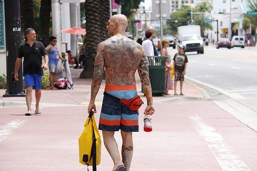 Tattoo, City, Man, Character, People, Happy Man