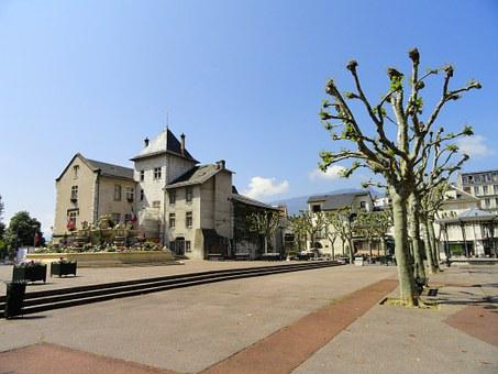 Aix-les-bains, France, Town Hall, Building, Square