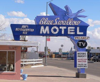 Tucumcari, New Mexico, Motel, Rooms, Buildings