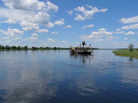 Africa, River, Botswana, Water, Landscape, Nature, Boot