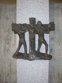Way Of The Cross In Bronze, Artist Hans Colonel Of All