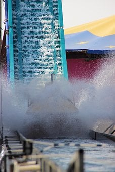 Water Rail, Water Slide, Log Flume, Water, Inject, Wet