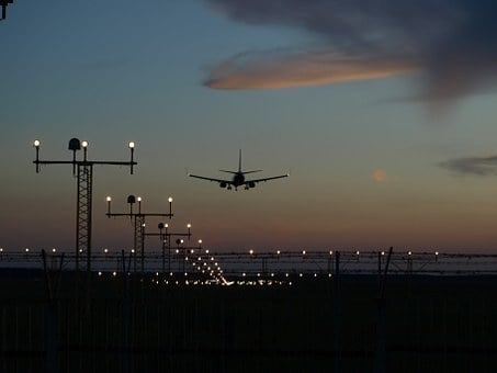 Jet, Landing, Plane, Sunset, Light, Airliner, Fly