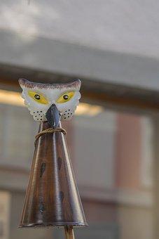 Decorative Items, Owl, Garden, Animal, Metal, Statue