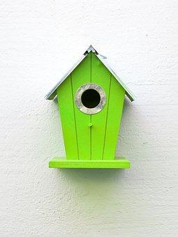 Aviary, Green, Birds, Nesting Place, Bird Feeder
