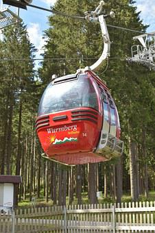 Cabin, Cable Car, Mountains, Highlands, Braunlage