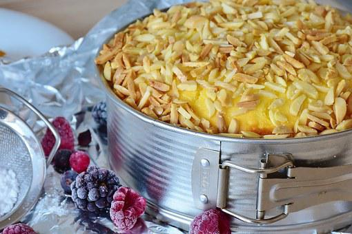 Cake, Cheesecake, Bake, Pastries, Sweetness, Almonds