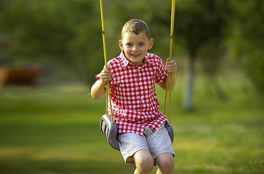 Boy, Swinging, Playing, Swing, Child, Happy, Summer