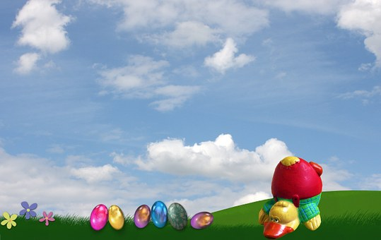 Easter, Duck, Funny, Easter Eggs, Standing On Your Head