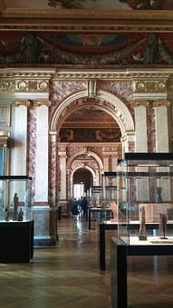 Louvre, Paris, France, Ornate, Door, Silver, Filigree
