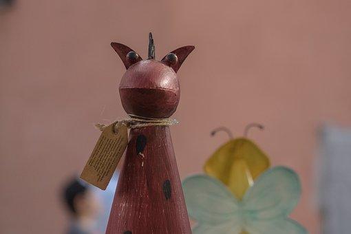 Decorative Items, Devil, Garden, Animal, Metal, Statue