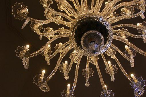 Chandelier, Crystal, Luxury, Glass, Interior, Design