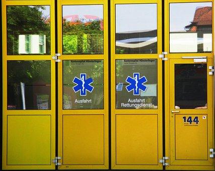Doors, Yellow, Glass, Mirroring, Gate