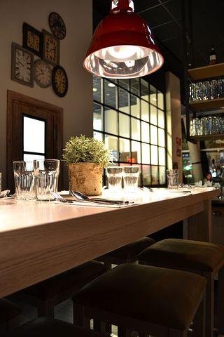 Restaurant, Interior, Industrial Design, High Table