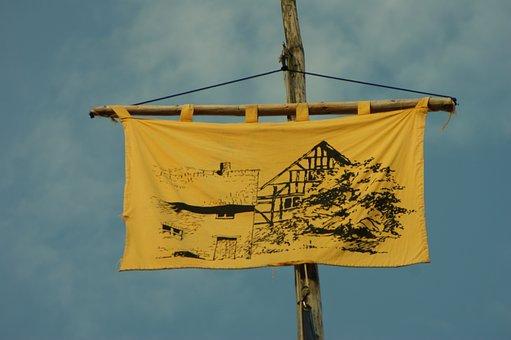 Path Finder, Flag, Sky, Flagpoles, Hoisted, Hoist Flag
