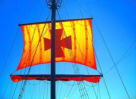 Sail, Ship, Sailing Vessel, Hoisted, Rigging, Mast