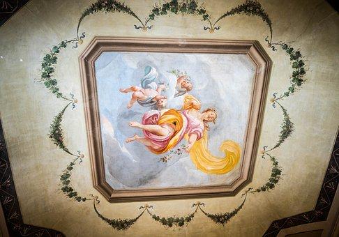 Ceiling, Italy, Hotel Astoria, Architecture, Tourism