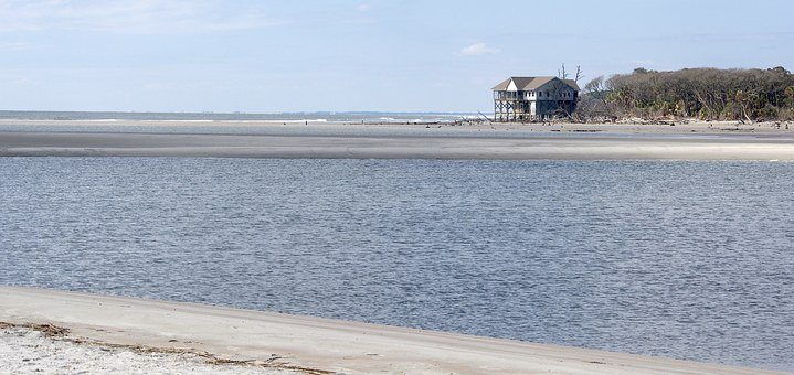 Beach, Fripp, Carolina, House