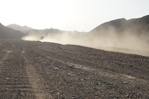 Dust, Desert, Terrain Vehicle, Auto, Jeep, Egypt