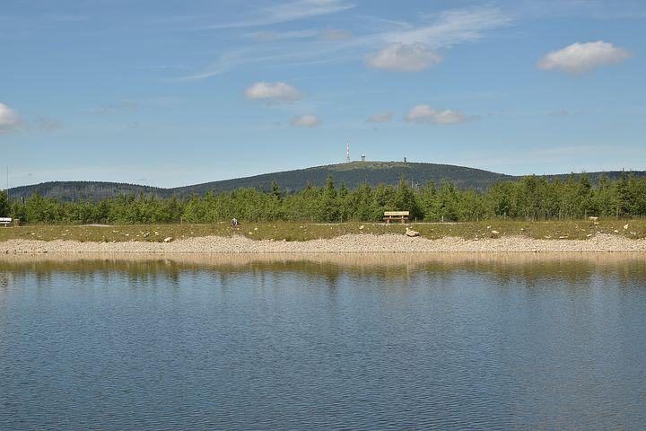 Artificial Pond, Landscape, Mountains, Highlands