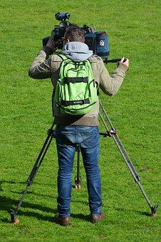 Camera Cameraman, Job, People, Filming, Man