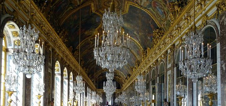 Versailles, Paris, France, Palace, Hall Of Mirrors