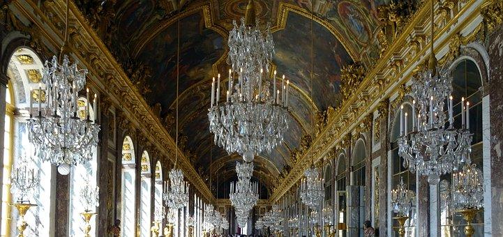Versailles, Paris, France, Palace, Hall Of Mirrors