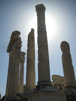Pergamon, Turkey, Ruins, Excavations, Bergama, Columnar