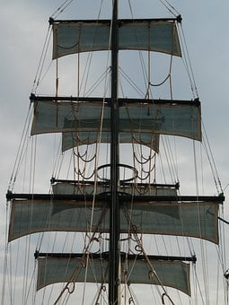 Sail, Ship, Sailing Vessel, Hoist, Hoisted, Rigging