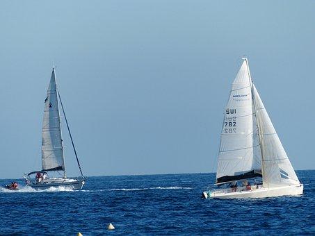 Ships, Sailing Ships, Sail, Hoisted, Masts, Sea, Ocean