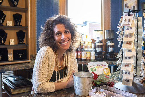 Smiling Woman, Coffee Shop, Cafe, Coffee, Shop