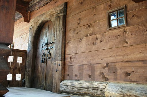 Log Cabin, Simple Dwelling, Logs, Stoep, Verandah